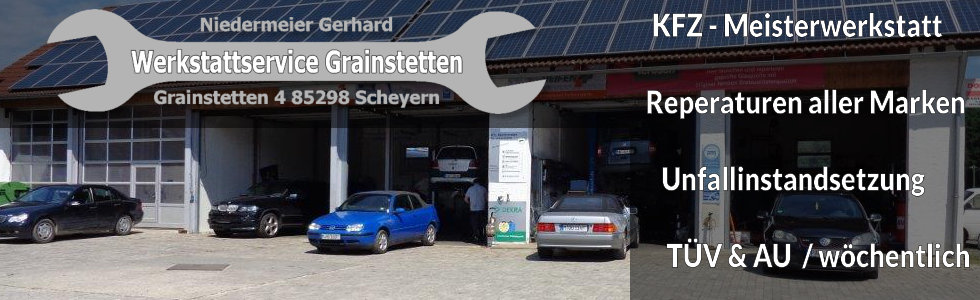 KFZ - Meisterwerkstatt / Maschinen Niedermeier ihre Fachpartner in Pfaffenhofen / Schrobenhausen / Freising / Dachau / Ingolstadt / München